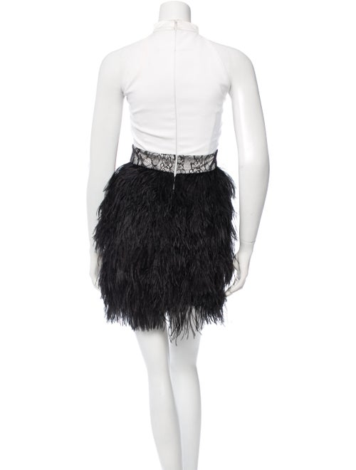 dfd05cca24 Givenchy Ostrich Feather-Embellished Mini Dress - Clothing ...