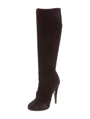 Suede Pointed-Toe Boots