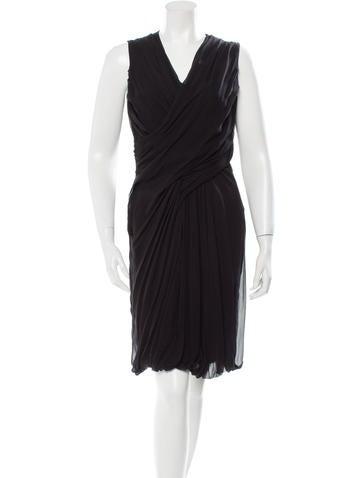 Givenchy Sleeveless Silk Dress None