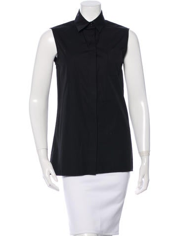 Givenchy Sleeveless Button-Up Top None
