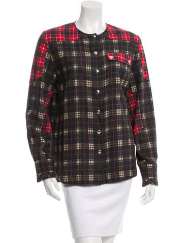 Givenchy Plaid Button-Up Top None