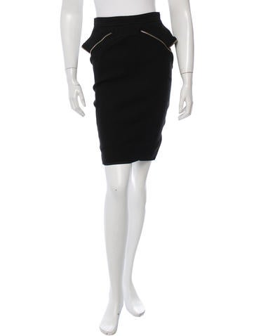 Givenchy Zip-Accented Pencil Skirt
