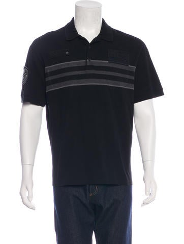 Givenchy Striped Embroidered Polo None