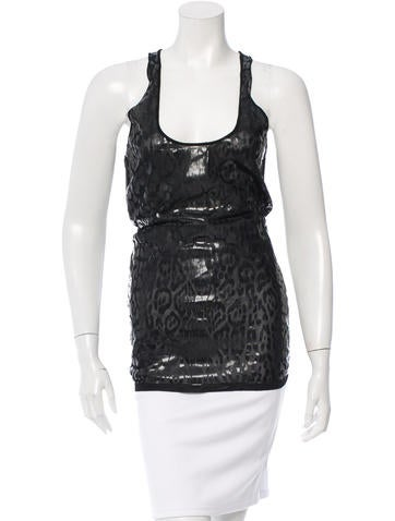Givenchy Sleeveless Leopard Top None
