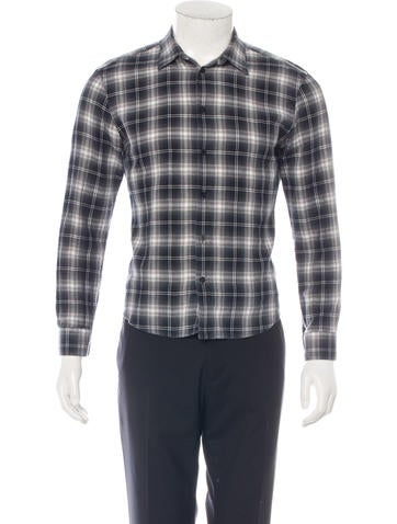 Givenchy Plaid Button-Up Shirt None