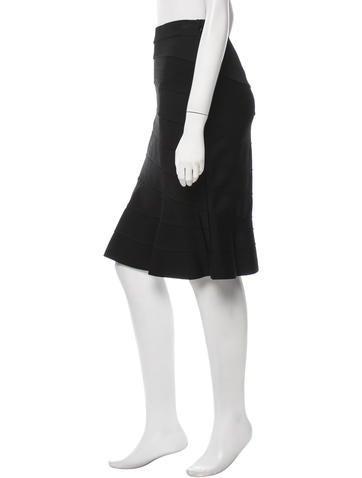 Flared Knee-Length Skirt
