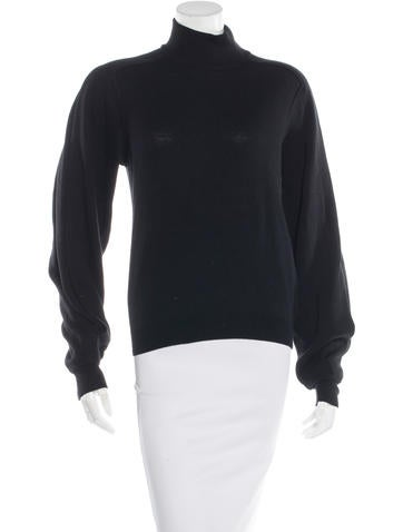 Givenchy Wool-Blend Mock Neck Sweater None
