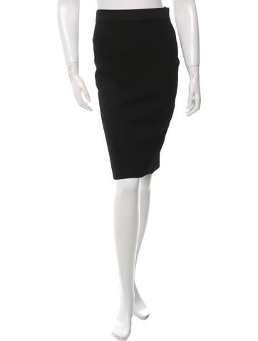 Givenchy Rib Knit Midi Skirt None