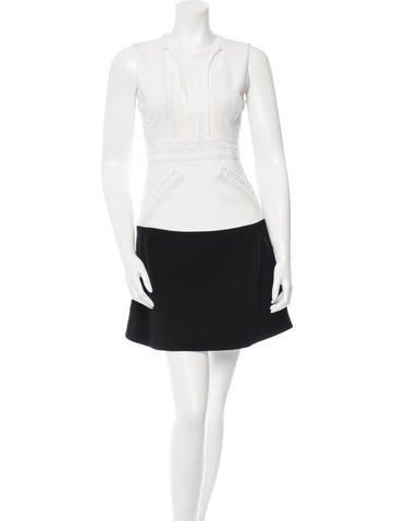Givenchy Cutout Colorblock Dress None
