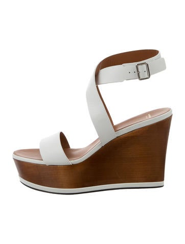 Givenchy Leather Platform Wedges None