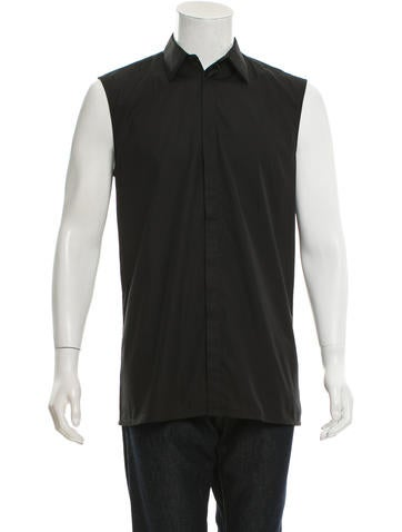 Givenchy Sleeveless Button-Up Shirt None