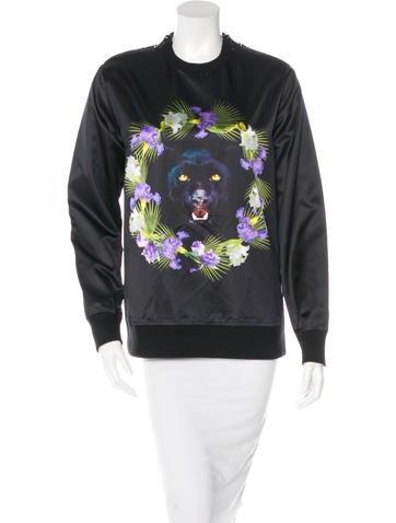 Givenchy Satin Panther Sweatshirt None