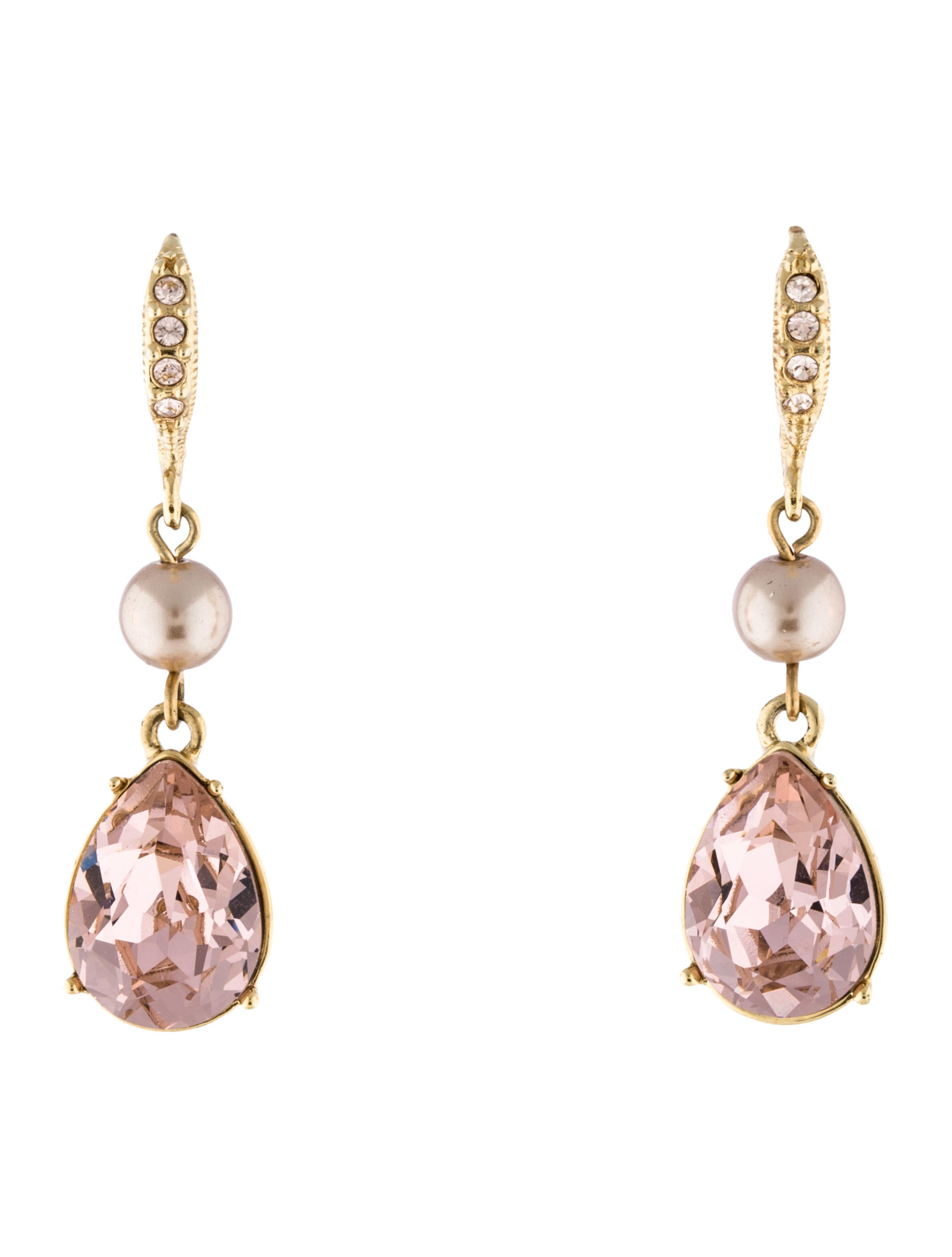 givenchy crystal faux pearl drop earrings earrings. Black Bedroom Furniture Sets. Home Design Ideas