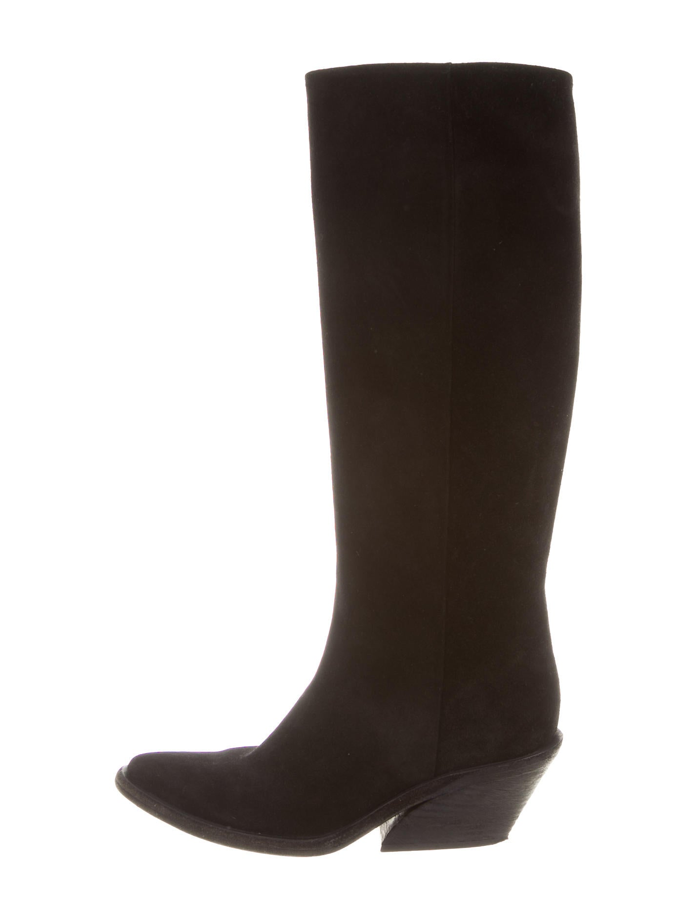 givenchy suede knee boots shoes giv33695 the realreal