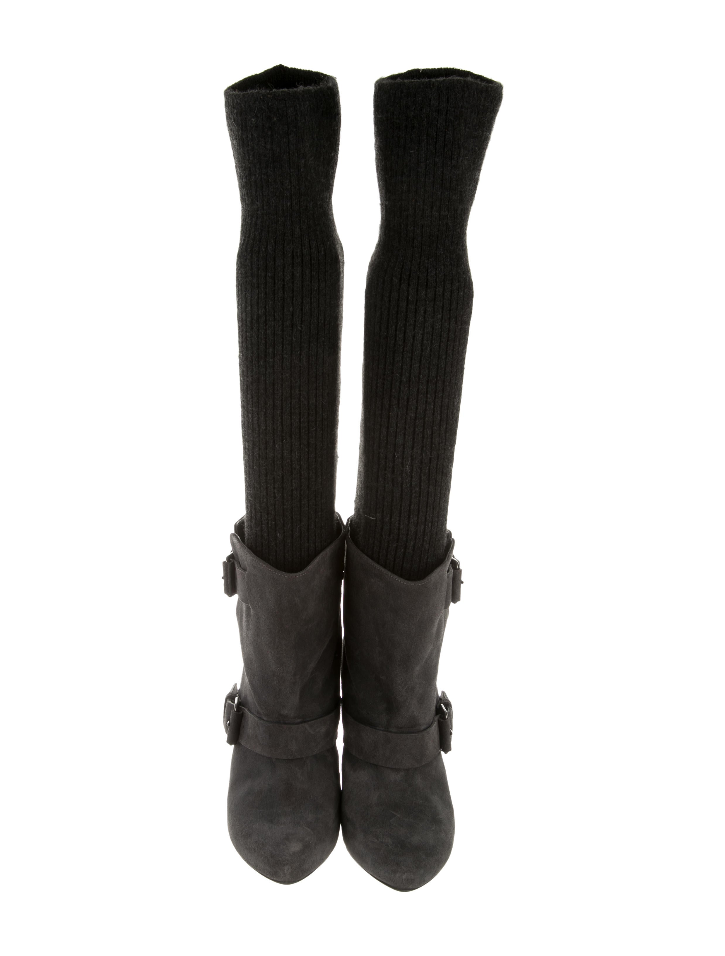 givenchy rib knit knee high boots shoes giv33747 the