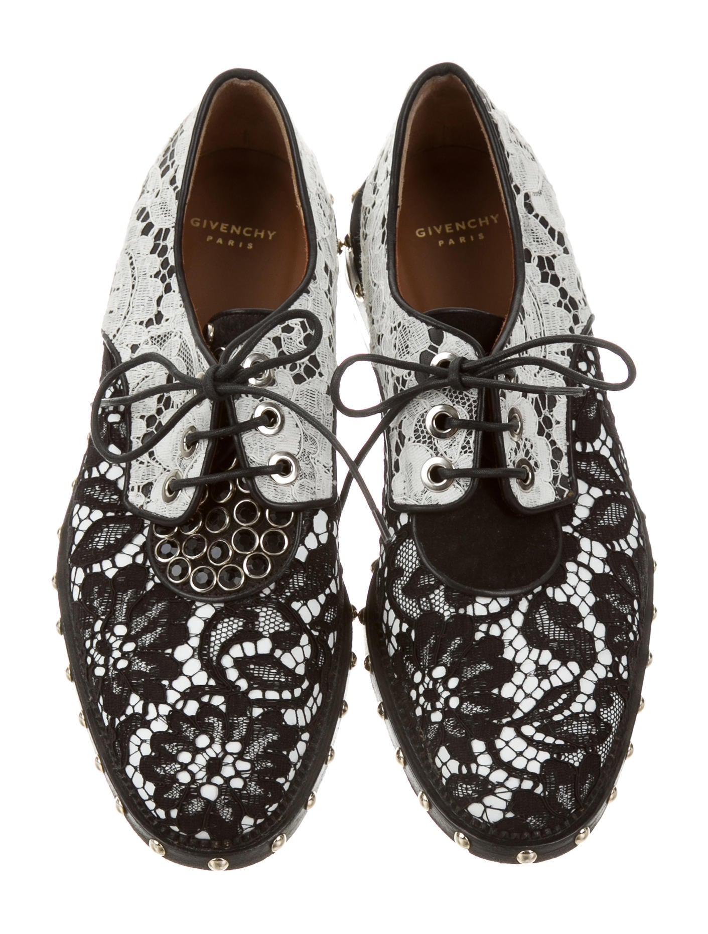 givenchy studded lace oxfords shoes giv33767 the