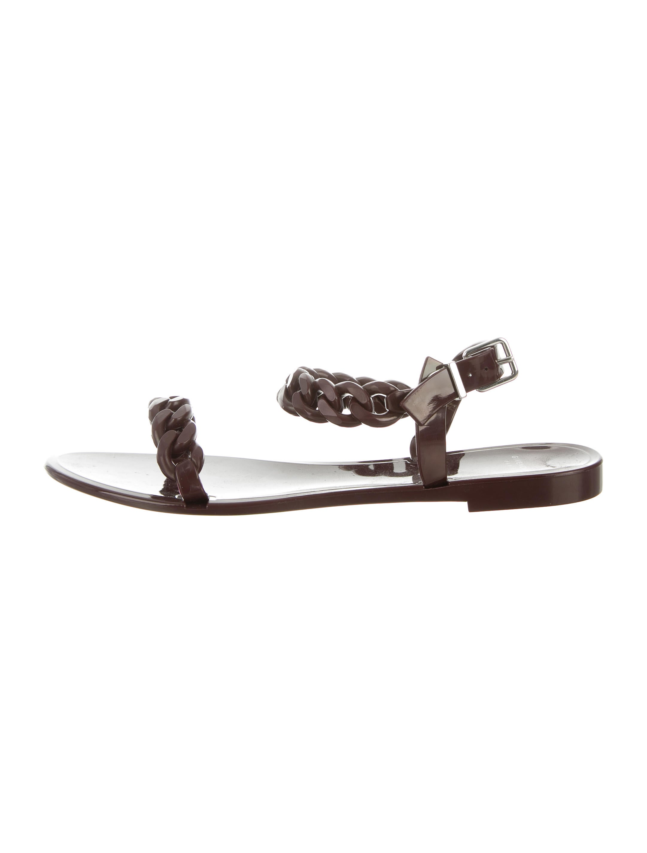 1b6557c1cb7 Givenchy Chain-Link Jelly Sandals - Shoes - GIV34072