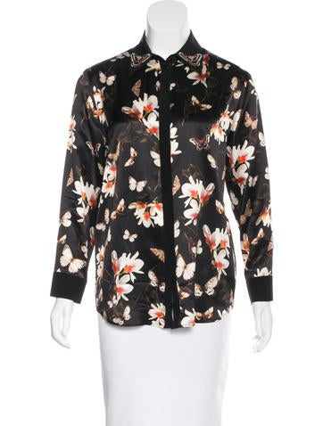 Givenchy Butterfly Print Button-Up Top None