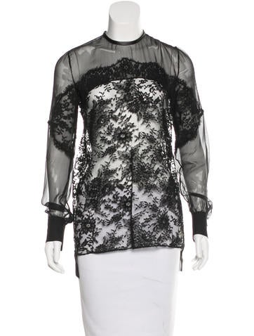 Givenchy Silk Lace Top None
