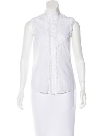 Givenchy Ruffle-Trimmed Sleeveless Top None