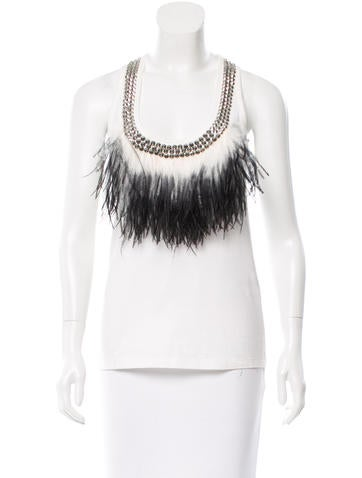 Givenchy Sleeveless Embellished Top None