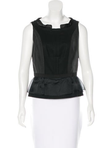 Givenchy Wool Peplum Top