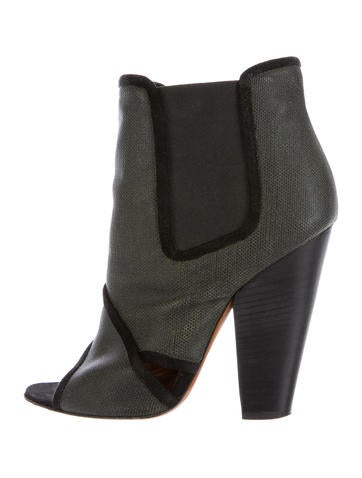 Givenchy Leather Open-Toe Ankle Boots