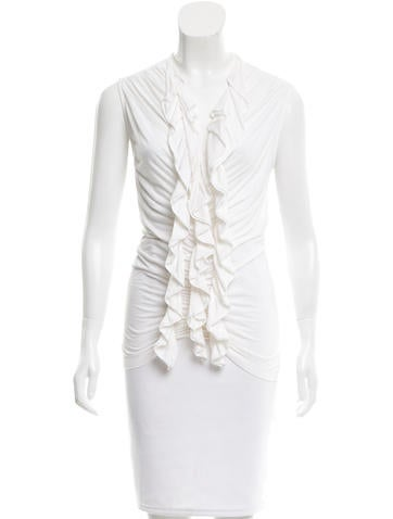 Givenchy Sleeveless Ruched Blouse None
