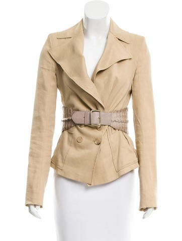 Givenchy Structured Linen-Blend Blazer w/ Tags
