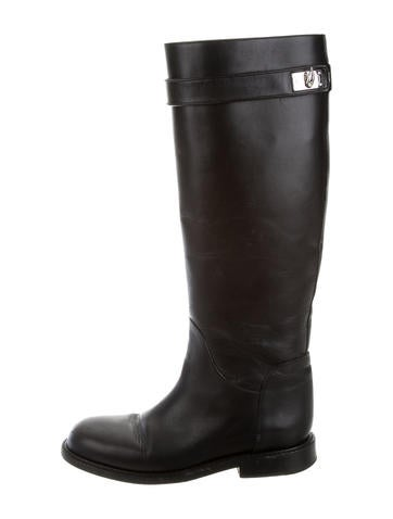 givenchy leather shark lock boots shoes giv35202 the