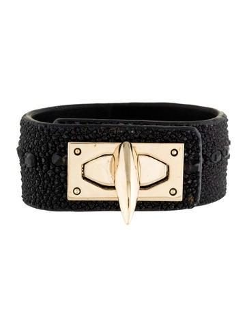 Givenchy Stringray Shark Lock Cuff