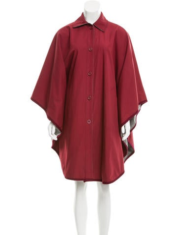 Givenchy Reversible Button-Up Poncho None