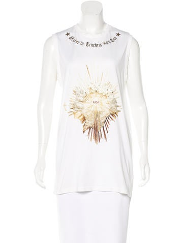 Givenchy Graphic Sleeveless T-Shirt None