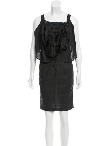 Givenchy Floral-Adorned Sleeveless Dress None