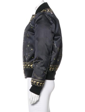 Panther Print Bomber Jacket
