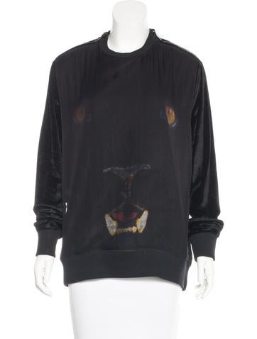 Givenchy Long Sleeve Panther Sweatshirt None