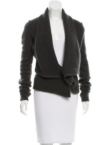 Givenchy Mohair-Blend Draped Cardigan None