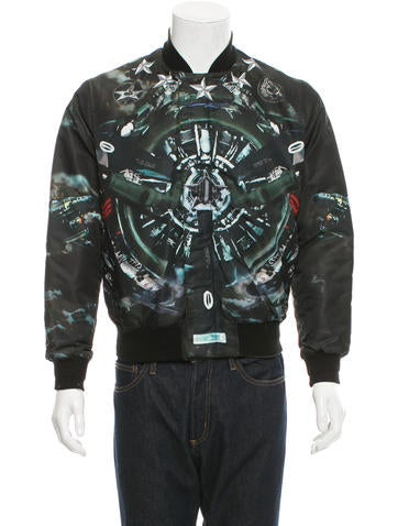 Givenchy Fighter Planes Bomber Jacket None