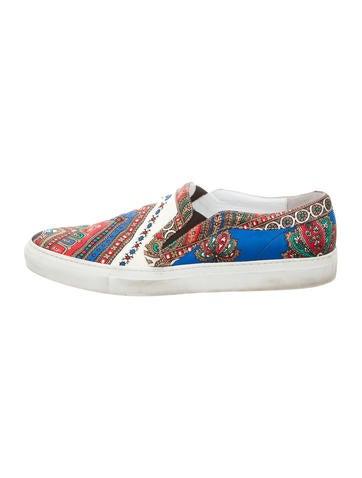 Satin Slip-On Sneakers