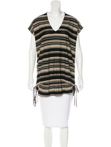 Givenchy Virgin Wool Striped Tunic None