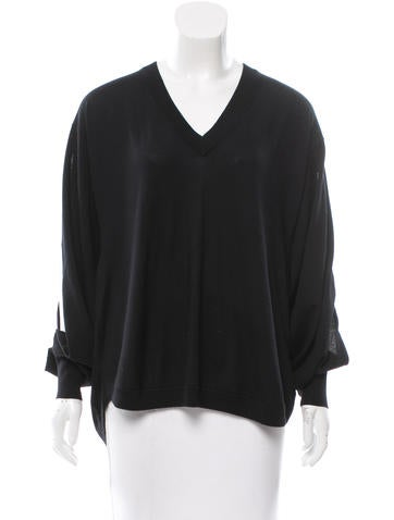 Givenchy Wool & Silk-Blend Sweater None