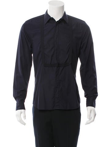 Givenchy Woven Button-Up Shirt None