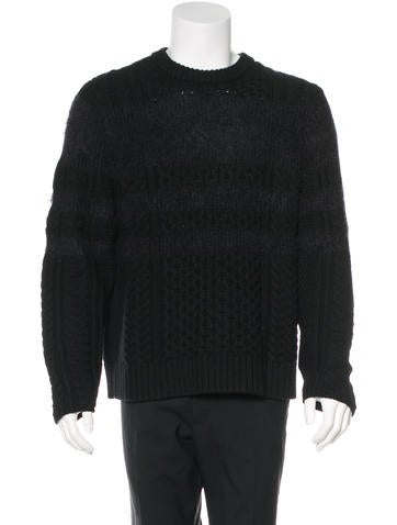 Givenchy Wool Cable Knit Sweater None