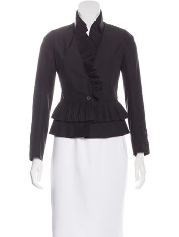Givenchy Pleat-Accented Structured Jacket