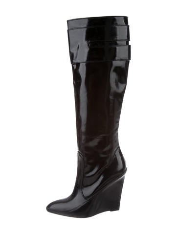Givenchy Knee-High Wedge Boots None