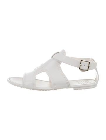 Rubber Logo Sandals