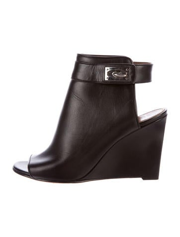 Givenchy Shark-Lock Wedge Booties