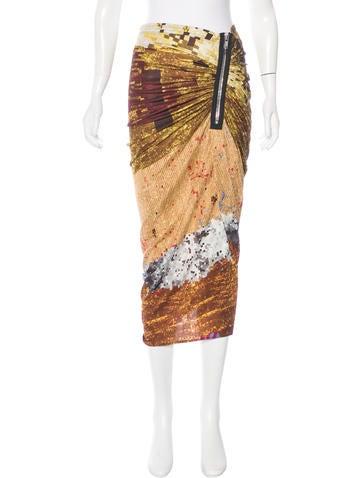 Givenchy Sequin Print Midi Skirt
