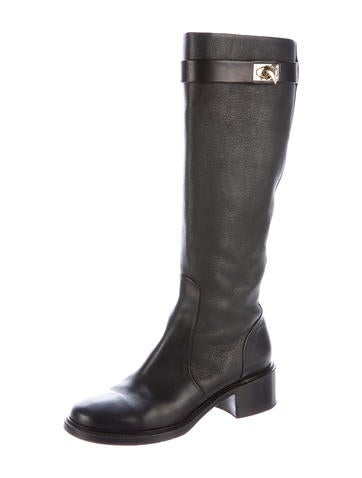 givenchy shark lock leather boots shoes giv36528 the