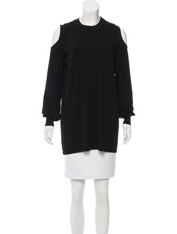 Givenchy Cold Shoulder Long Sleeve Top None